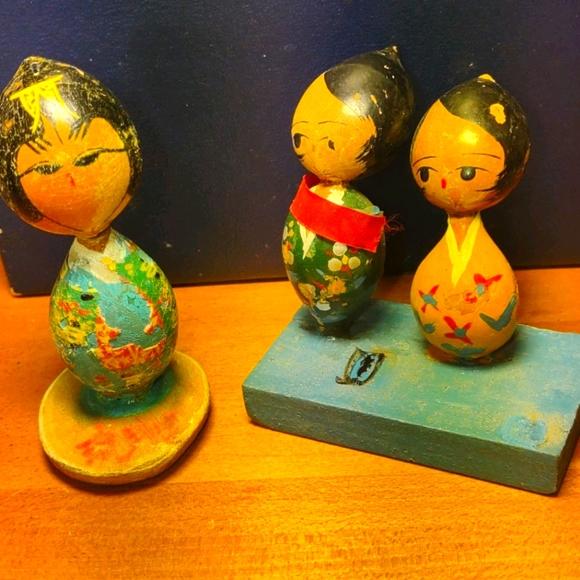 Extremely old handmade Japanese dolls